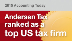 Andersen Tax ranked as a top US tax firm: 2015 Accounting Today