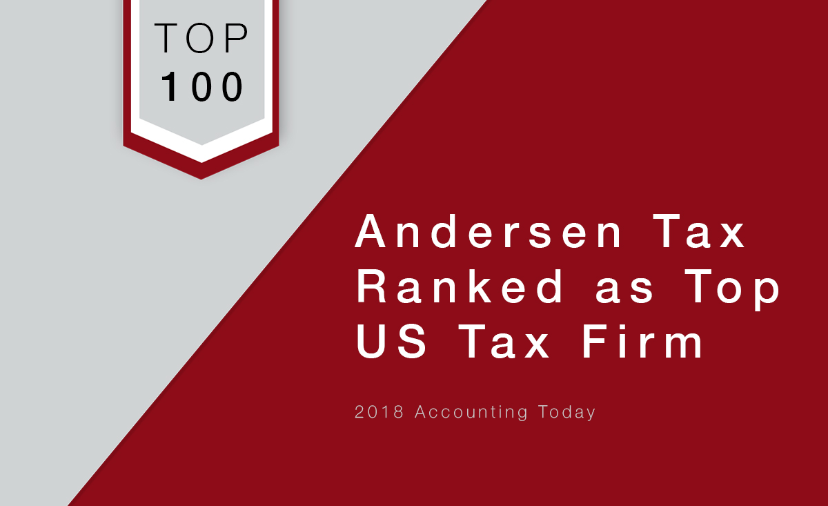 2018 Accounting Today Ranks Andersen Tax As Top U S Tax